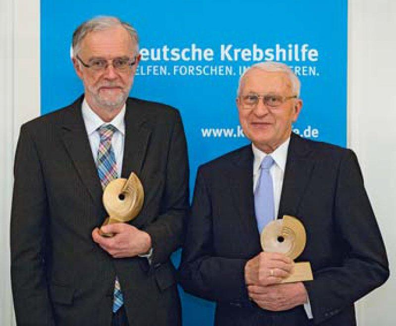 Ferdinand Hofstädter und Jörg Michaelis (von links), Foto: Deutsche Krebshilfe
