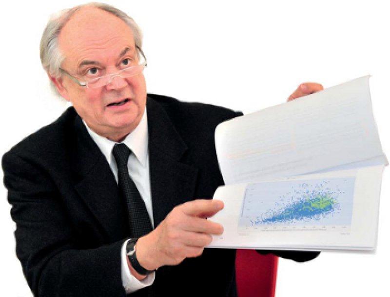 Blau bedeutet Sicherheit, Grün vielleicht Regress: Wolfgang Krombholz erläutert, warum manche Praxen zu Unrecht als unwirtschaftlich auffallen. Foto: Georg J. Lopata