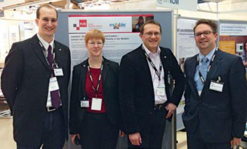 Christoph Noll, Ute von Jan, Urs-Vito Albrecht und Kristian Folta-Schoofs (von links). Foto: 2013 PLRIMedAppLab