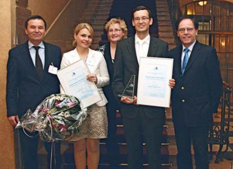 Peter Layer, Angelika Behrens, Christine Leben, Rüdiger Görtz und Hansjörg Meyer (von links). Foto: Norgine GmbH