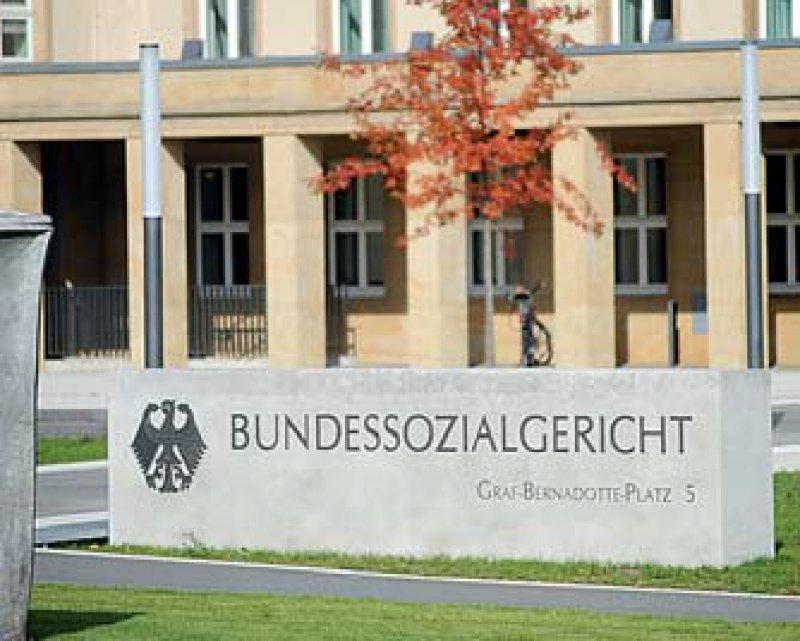 Der 6. Senat des Bundessozialgerichts in Kassel fällte das Urteil am 30. Oktober. Foto: picture alliance