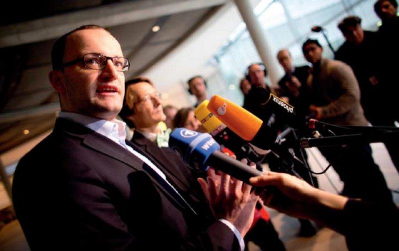 Keine Bürgerversicherung, keine Reform der PKV: Jens Spahn (vorn) und Karl Lauterbach machten klar, dass Kompromisse auch Verzicht bedeuten. Fotos: dpa