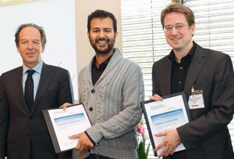 Klaus-Michael Debatin, Walid Fazeli und Max Christoph Liebau (von links). Foto: DGKJ