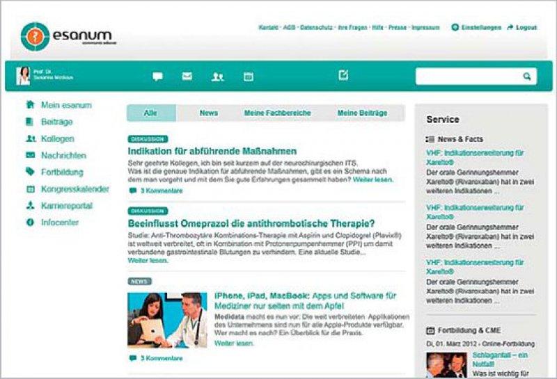 Ärzte erwarten von Fachportalen wie esanum ein qualitativ hochwertiges Informationsund Kommunikationsangebot.