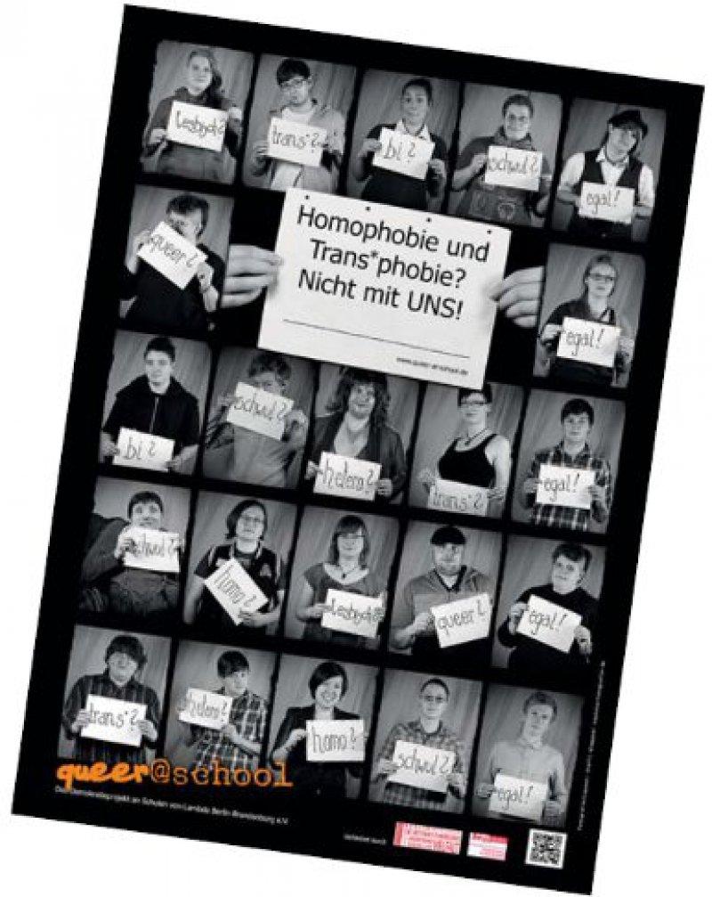 Jugendliche des Netzwerkes für junge Lesben und Schwule (Lambda) Berlin-Brandenburg e.V. wollen mit der Kampagne queer@ school Homophobie entgegenwirken. Foto: queer@school