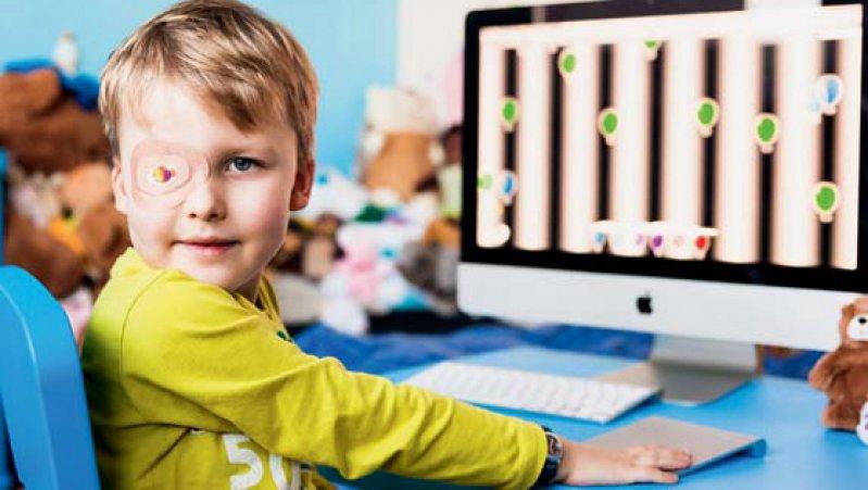 Kindern, die an Amblyopie leiden, kann künftig mit einer webbasierten Stimulationstherapie geholfen werden. Foto: Caterna/Scott Tyrell