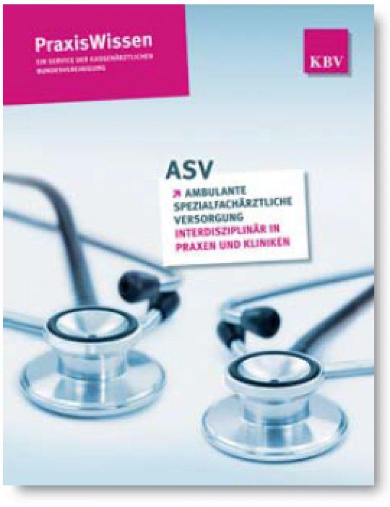Die Broschüre und zusätzliche Informationen unter: www.kbv.de/asv