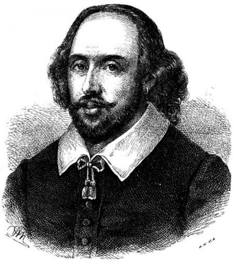 Shakespeare gilt als einer der bedeutendsten englischen Dramatiker. Sein genaues Geburtsdatum ist nicht überliefert. Getauft wurde er am 26. April 1564.