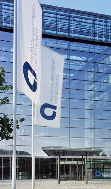 Das Hauptgebäude der Deutschen Apotheker- und Ärztebank in Düsseldorf. Die Genossenschaftsbank blickt zufrieden auf das Geschäftsjahr 2013 zurück. Foto: ApoBank/Constantin Meyer