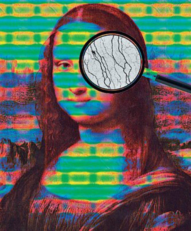 """Kunstgriff: Statt des """"da Vinci Codes"""" findet man im linken Auge von Mona Lisa eine Reduktion der Hornhautnerven, so wie es bei Diabetikern häufig der Fall ist. Foto: Dan Ziegler"""