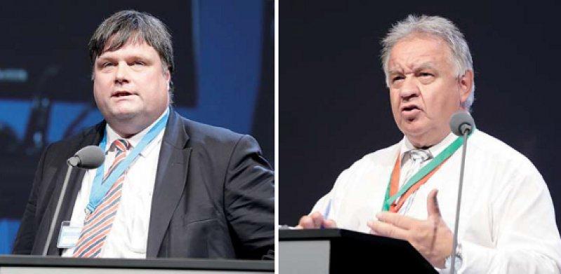 Engagierte Verhandler: Bernhard Rochell (l.) und Theodor Windhorst
