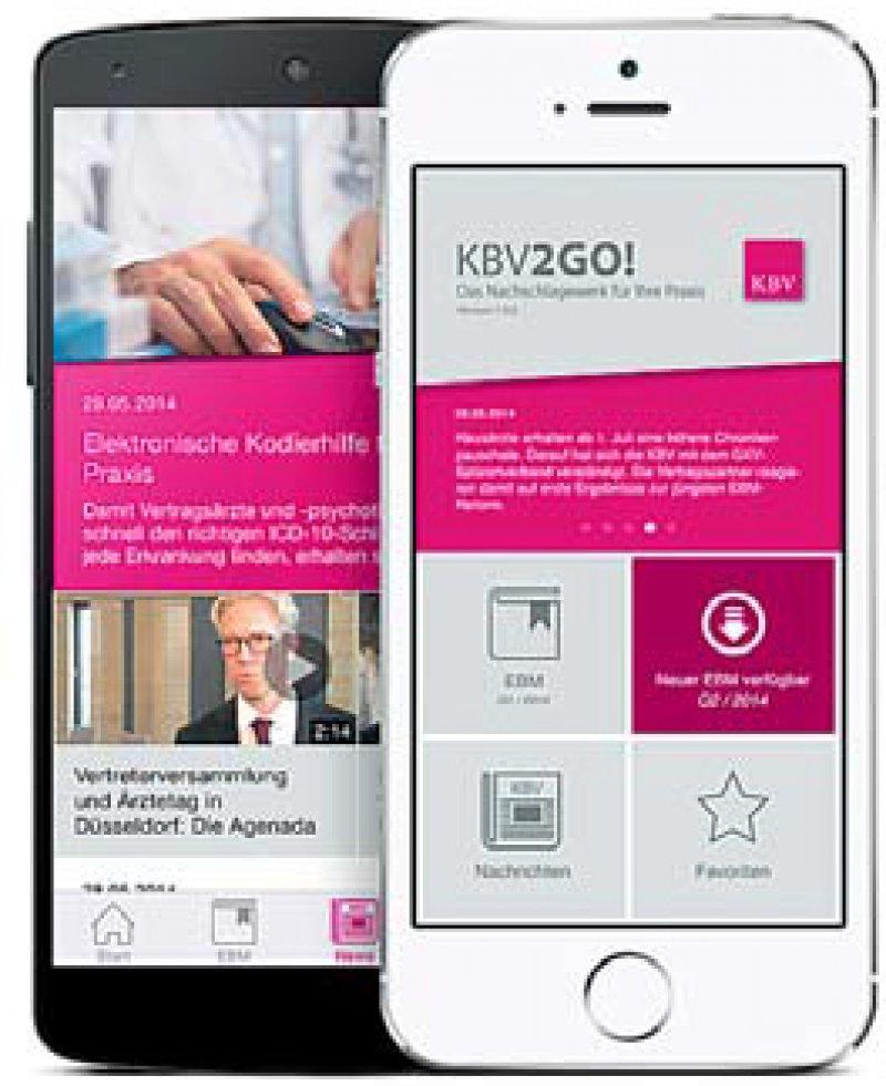 Die Smartphone-Applikation der KBV soll die tägliche Arbeit von niedergelassenen Ärzten vereinfachen.