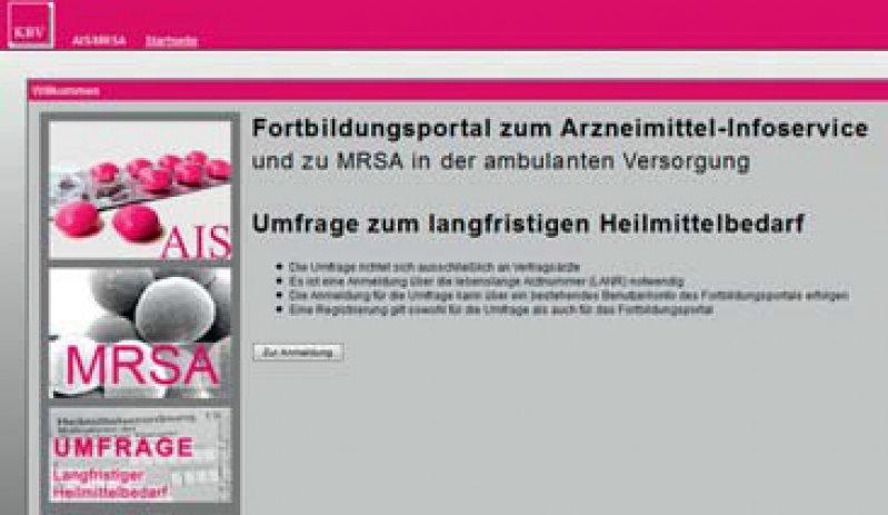 https://cme.kbv.de: Kostenfreie cme-Fortbildungen für Ärzte