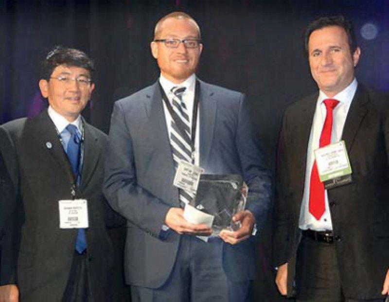 Jean-Marc Creissel, Thomas Knoll und Stephen Nakada (von links). Foto: Klinikverbund Südwest/Gesellschaft für Endourologie
