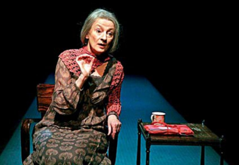 In der Rolle der Gundel präsentiert Petra Afonin ein realistisches Porträt einer alten, demenzkranken Dame. Foto: privat