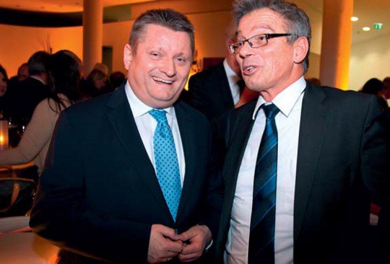 Viel Lob vom Minister (links) für den Parteifreund an der Spitze des G-BA. Foto: G-BA/Joachim Zimmermann
