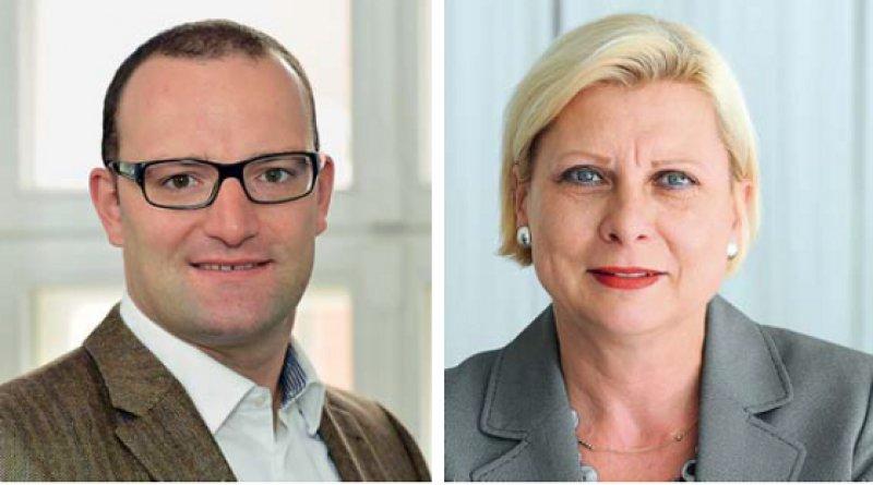 Jens Spahn (Union) und Hilde Mattheis (SPD) sind die gesundheitspolitischen Sprecher der Regierungsfraktionen im Bundestag. Fotos: Georg J Lopata/dpa