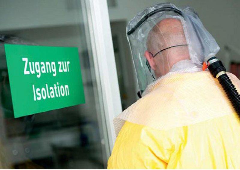 Sonderisolierstation im Klinikum Schwabing: In München ist man darauf vorbereitet, Patienten mit Ebola aufzunehmen. Foto: dpa