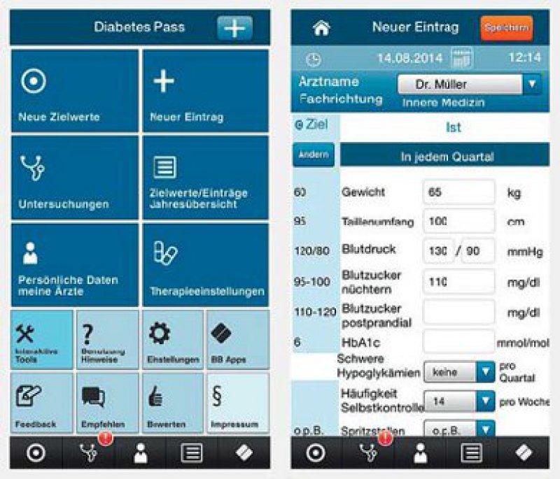 Der Diabetes-Pass in seiner Umsetzung als Patienten-App