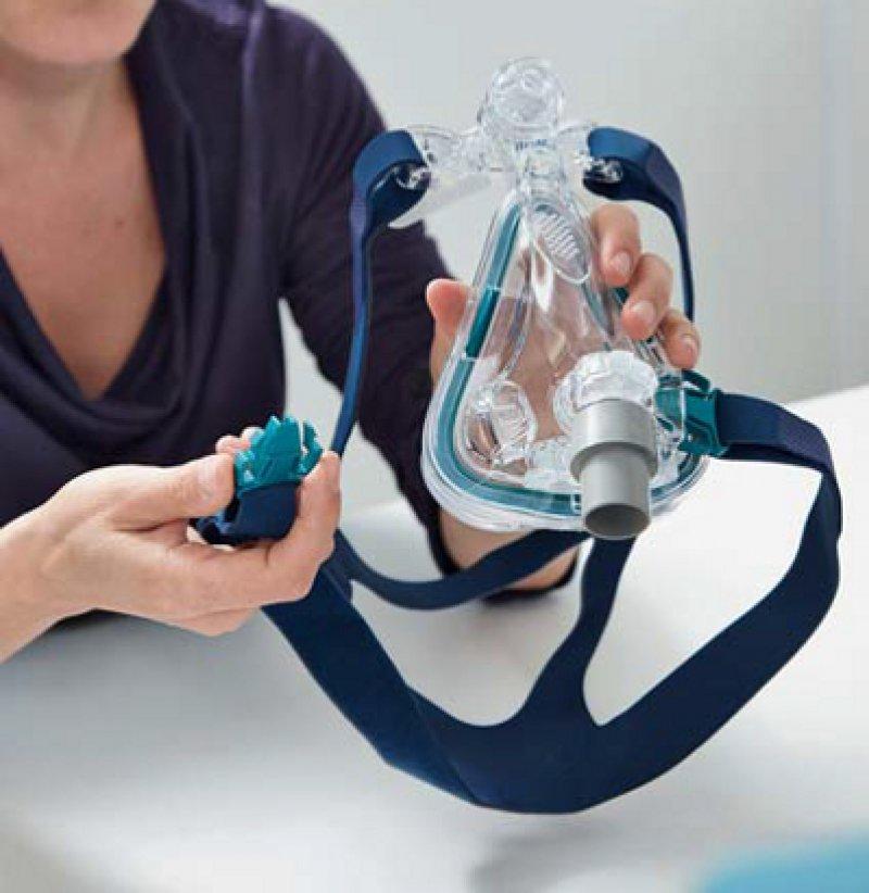 CPAP-Maske: Viele CPAP-Geräte sind druckinstabil. Das ist häufig jedoch nur schwer zu erkennen. Foto: Lungenliga Schweiz
