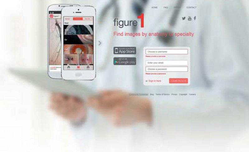 """Über die App """"Figure 1"""" können Ärzte medizinische Bilder posten, kommentieren und andere Ärzte beraten."""