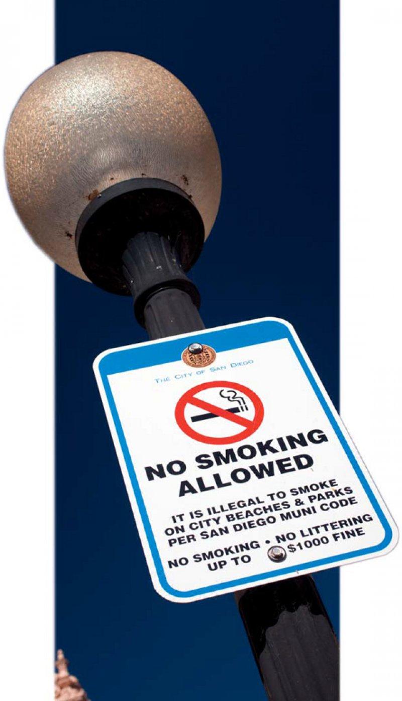 Rauchverbot im Park: Aus der größten Grünanlage von San Diego in Kalifornien sind Zigaretten verbannt. Fotos: dpa