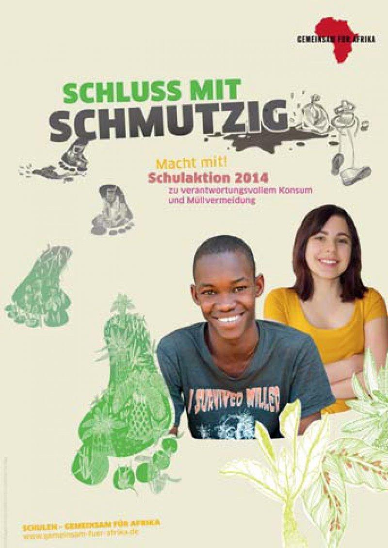 Mit einer Plakatausstellung machte die AG Boumdoudoum des Neuen Gymnasiums Oldenburg auf das Problem von Müllexporten nach Afrika aufmerksam.