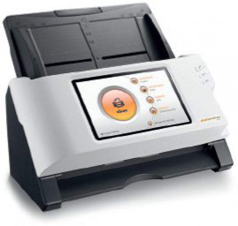 Frontansicht des Dokumentenscanners. Foto: Plustek Technolgy GmbH, eScan A150