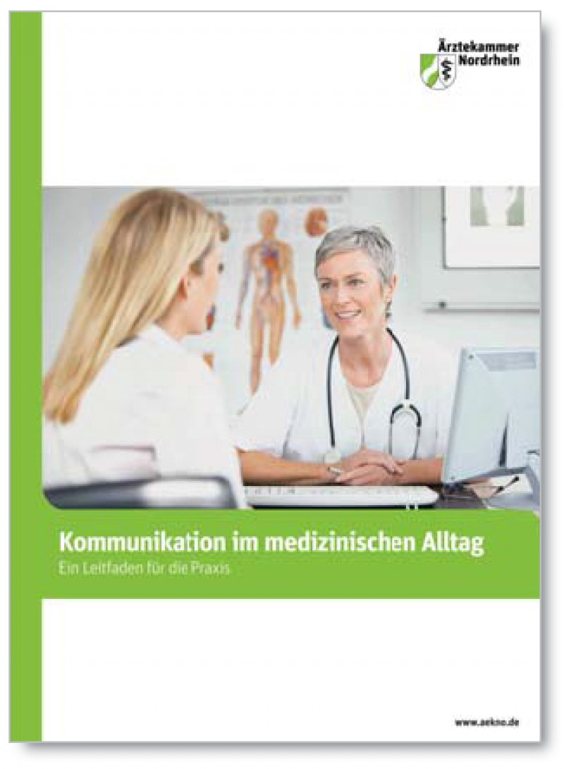 Der Leitfaden der Ärztekammer Nordrhein ist abrufbar unter http://d.aerzteblatt.de/RG65ZP26.