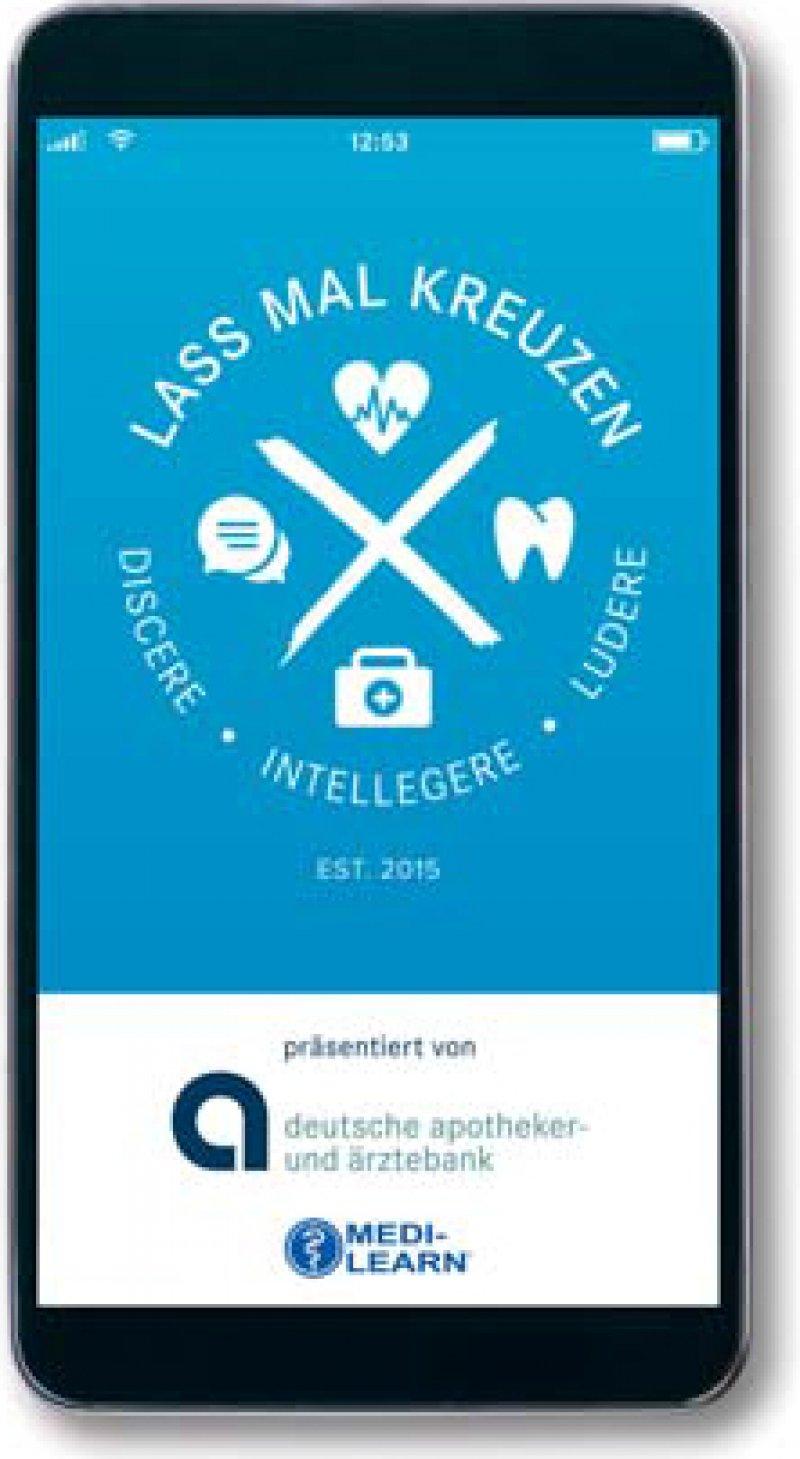 Studienbegleitende Unterstützung beim Lernen: Die App enthält medizinische und pharmazeutische Prüfungsfragen. Foto: apoBank