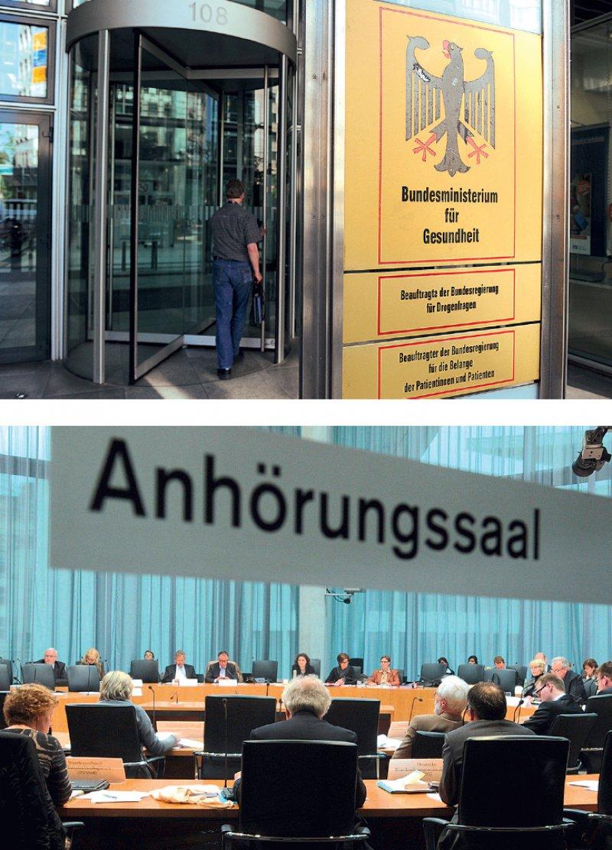 Viel Raum für Diskussionen: Zwischen Gesundheitsministerium und Parlament sind noch einige Gesetze zu verhandeln. Fotos: dpa; Deutscher Bundestag/Lichtblick/Achim Melde