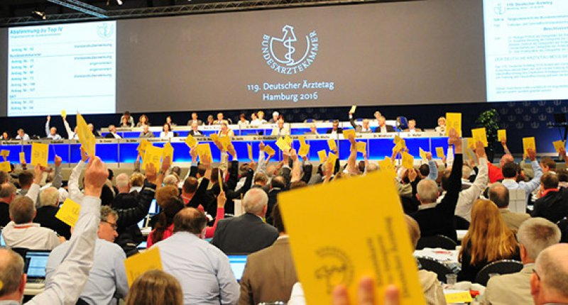 119. Deutscher Ärztetag: Politische Forderungen bilden den Abschluss