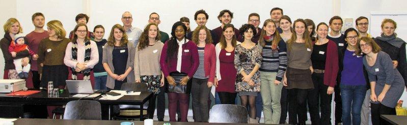 Global Health at University in Berlin im November 2016: Gemeinsam ergriffen die Teilnehmer die Initiative zur Stärkung von Lehre und Forschung zu Globaler Gesundheit an medizinischen Fakultäten in Deutschland. Foto: privat