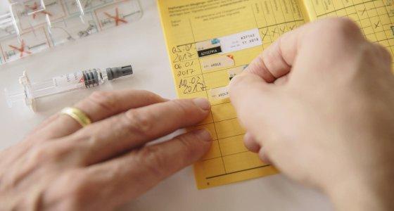 Impfausweis /dpa