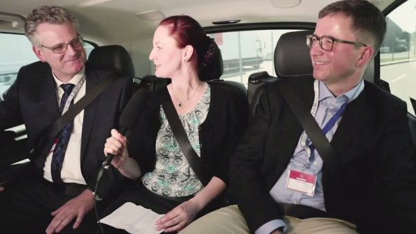 <b>Im Taxi</b> mit zwei Ärztetags-Delegierten