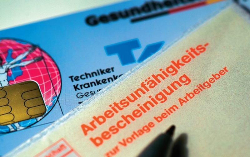 Mit der eAU können elektronische Krankmeldungen per Mausklick an die Krankenkasse geschickt werden. Foto: dpa
