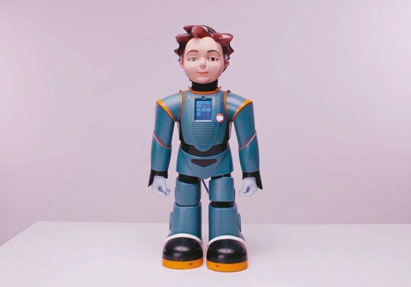 """Der Roboter """"Zeno"""" soll autistischen Kindern helfen, Emotionen zu erkennen. Foto: DE-ENIGMA"""