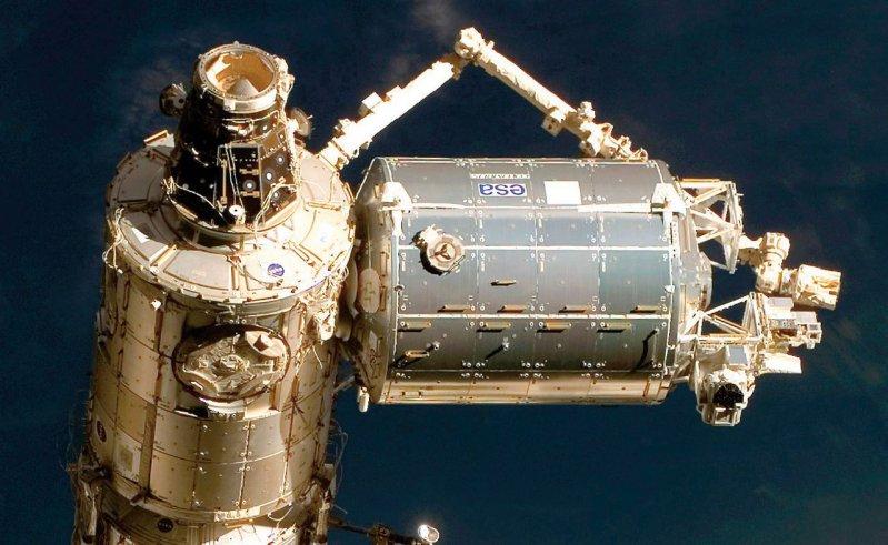 Das Columbus-Modul ist das europäische Forschungslabor auf der ISS. Foto: NASA
