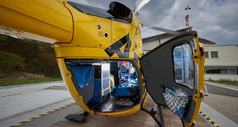 Hubschrauber Desinfektion