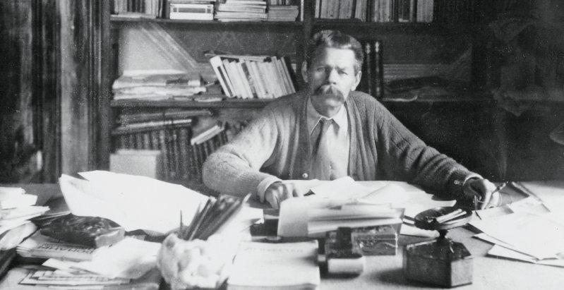 """Das """"rohe russische Leben"""" will Maxim Gorki seinen Lesern vor Augen führen. Von 1898 an kann er von seiner Tätigkeit als Schriftsteller leben. Fotos: picture alliance"""