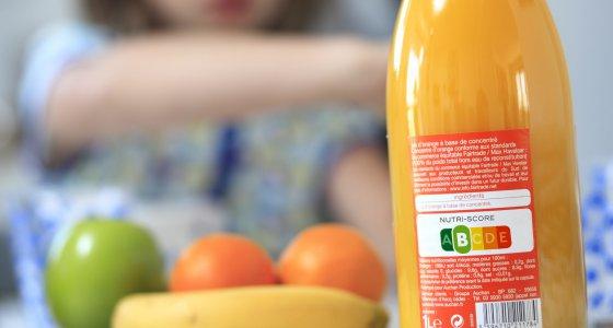 Orangensaftflasche mit Nutri-Score/picture alliance