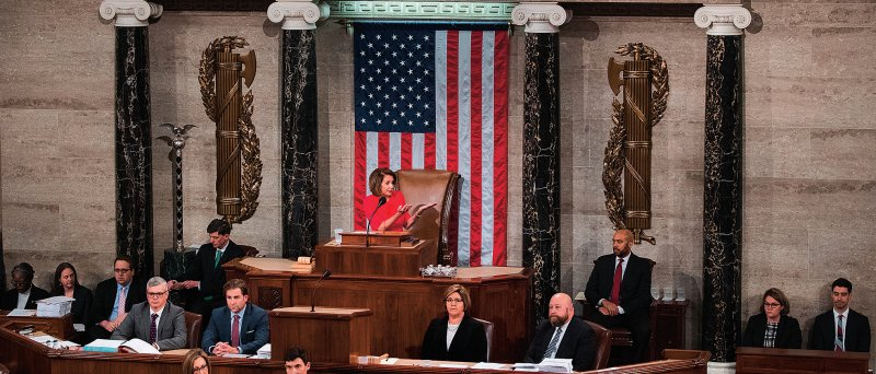 Nach acht Jahren haben die US-Demokraten wieder eine Mehrheit im Repräsentantenhaus. Stärkste Gegenspielerin von Donald Trump ist Nancy Pelosi. Foto: picture alliance