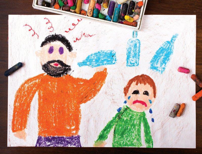 Das Aufwachsen in der Herkunftsfamilie von Pflegekindern ist oftmals geprägt von Alkohol, Drogen und Gewalt. Foto: czarny/bez/stock.adobe.com