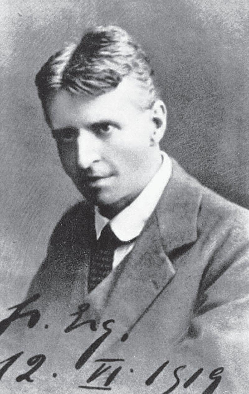 Otto Gross im Jahr 1919. Sieben Monate später stirbt er in einem Sanatorium. Foto: Wikimedia Commons
