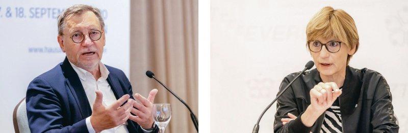 Eigenverantwortung soll in den Praxen bleiben: Hausärzte-Chef Ulrich Weigelt (links) und seine Stellvertreterin Anke Richter- Scheer mit deutlichen Aussagen zu Plänen der Politik, in die Praxisorganisation einzugreifen. Fotos: Georg J. Lopata