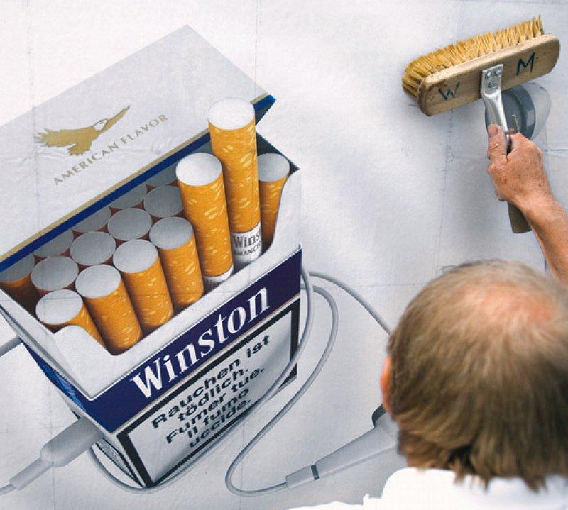 Tabakaußenwerbung ist in der Europäischen Union nur noch in Deutschland erlaubt. Foto: picture alliance/KEYSTONE