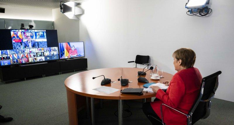 Europa gegen Corona: Merkel und Co. beraten bei Videogipfel