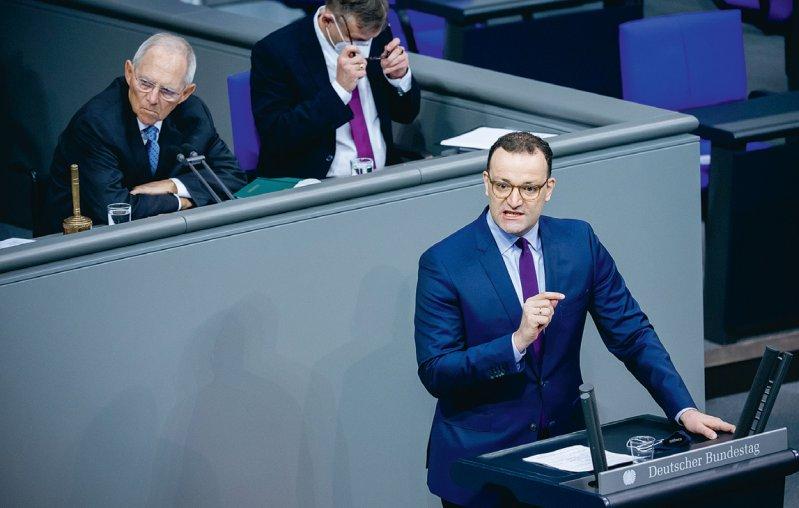 Jens Spahn (CDU), Bundesgesundheitsminister, spricht am 6. November in der Plenarsitzung im Deutschen Bundestag. Foto: picture alliance/dpa