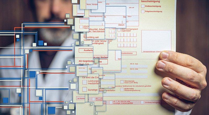 Die elektronische Arbeitsunfähigkeitsbescheinigung wird es noch lange auf Papier geben. Foto: mpix-foto/stock.adobe.com