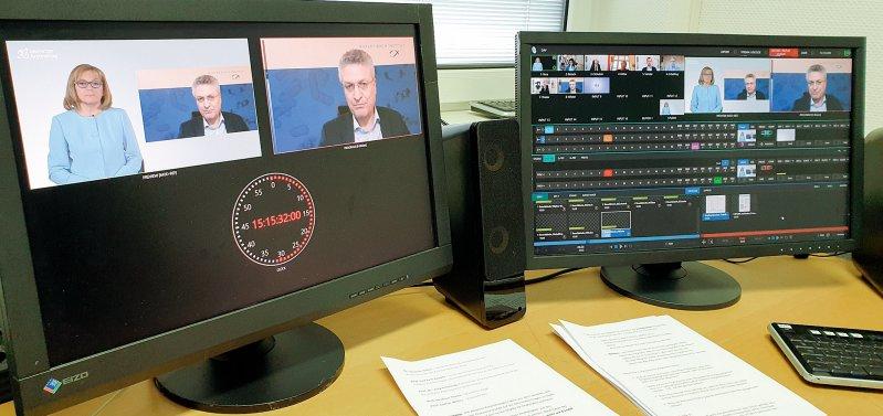 Bis zu 2 000 Zuschauer verfolgten die Diskussion über die künftige Impfung gegen COVID-19. Foto: Deutscher Ärzteverlag
